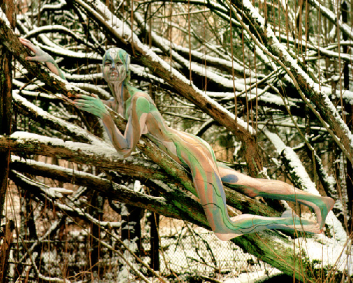 veruschka-body-painting-arbres